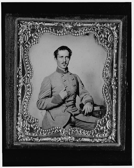 [Bernard Bluecher Graves, Corp., C.S.A., three-quarter length portrait, seated, facing front]