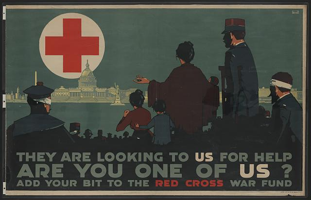 They are looking to us for help - Are you one of us? Add your bit to the Red Cross War Fund