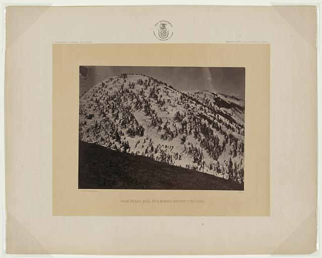 Snow peaks, Bull Run mining district, Nevada