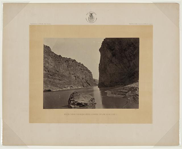 Black Cañon, Colorado River, looking below, near Camp 7