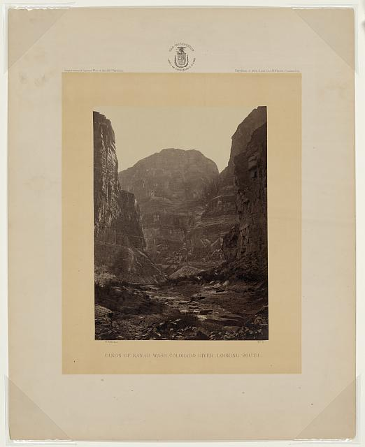 Cañon of Kanab Wash, Colorado River, looking South