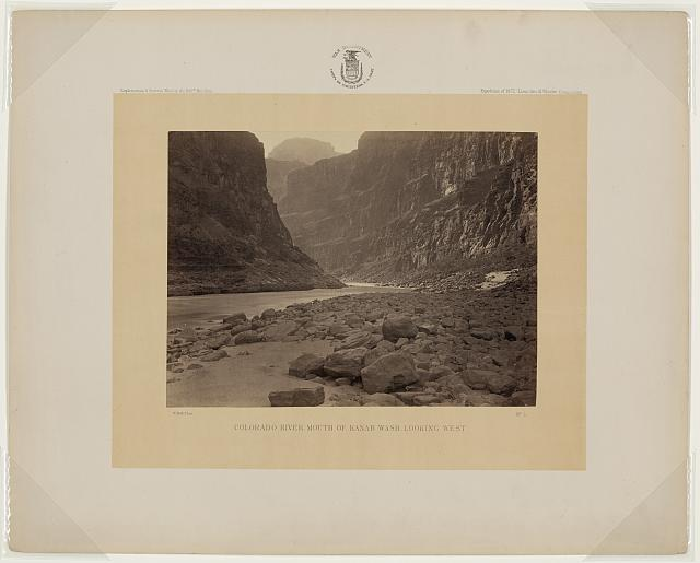 Colorado River, mouth of Kanab Wash, looking West