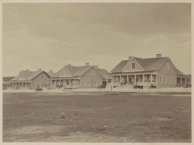 Officers' quarters, Fort Wingate, New Mexico, 1873
