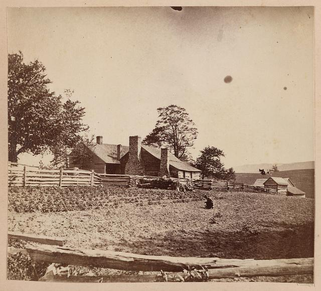 Old Christian house, Blue Ridge, looking e. from near Buffalo Gap