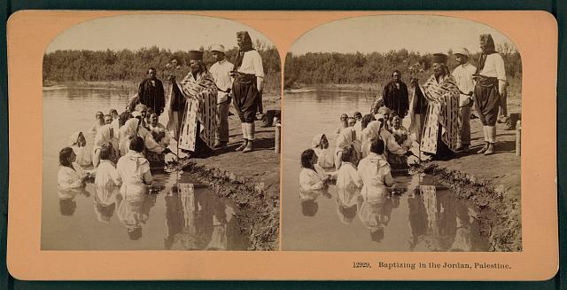 Baptizing in the Jordan