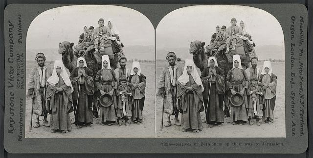 Natives of Bethlehem on their way to Jerusalem