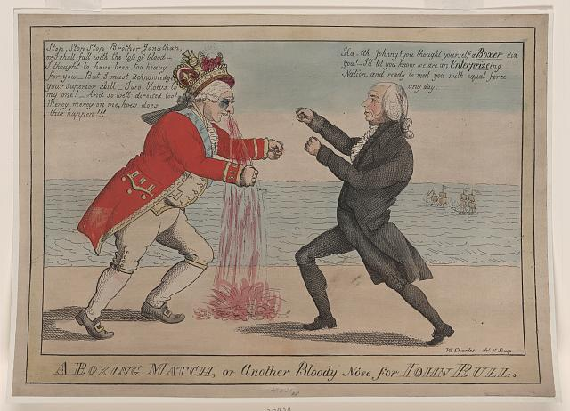 A boxing match, or another bloody nose for John Bull