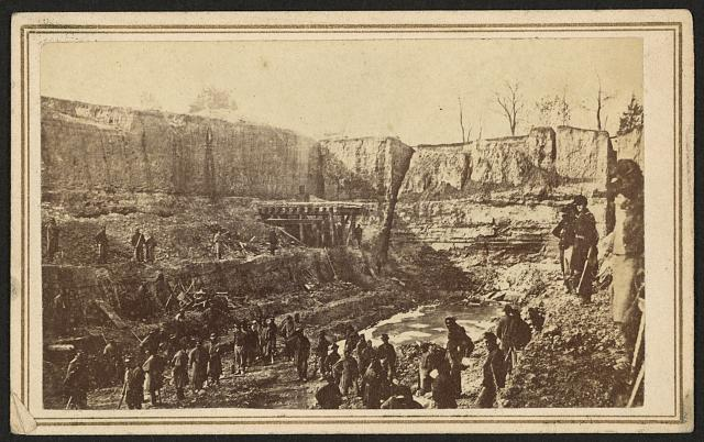 [Butler's Dutch Gap Canal, James River, Virginia]