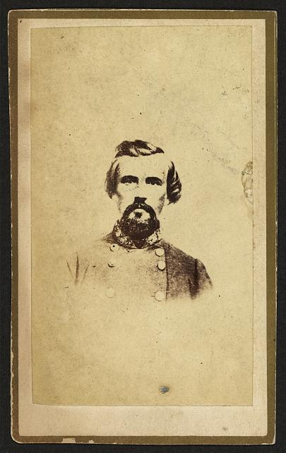 [Nathan Bedford Forrest, CSA General, half-length portrait, facing front]