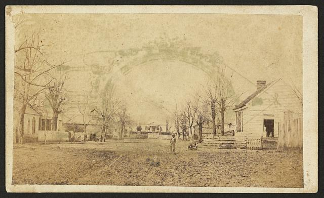 [Houses, slave cabins?, possibly in New Berne, North Carolina]