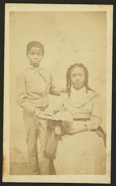 [Portrait of two unidentified African American children]