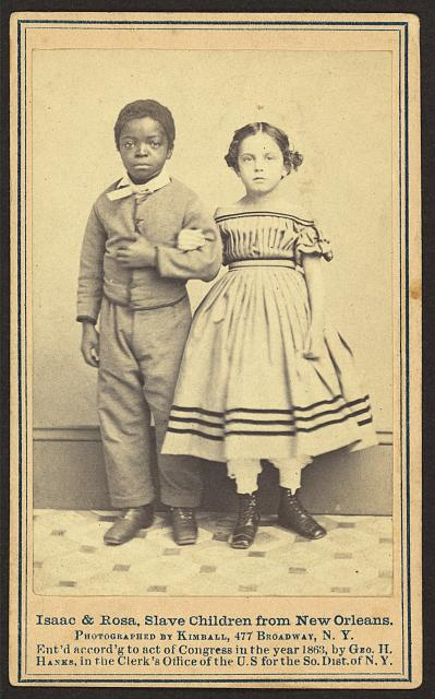 Isaac & Rosa, slave children from New Orleans,