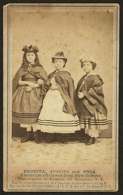 Rebecca, Augusta, and Rosa, emancipated slaves from New Orleans