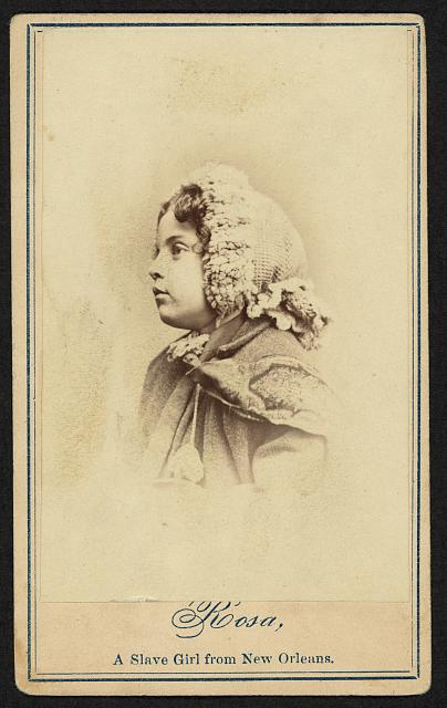 Rosa, a slave girl from New Orleans