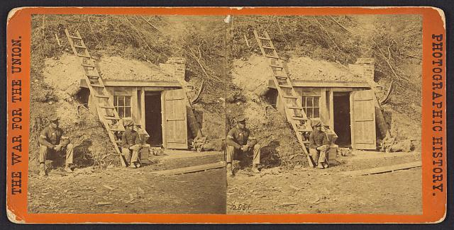 Bombproof quarters of Maj. Strong, at Dutch Gap, 16th N.Y. artillery