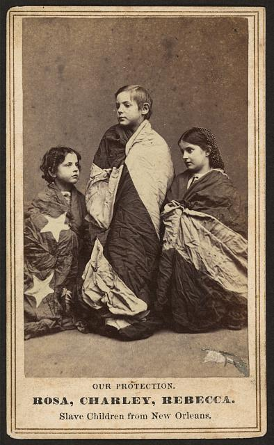 Rosa, Charley, Rebecca, slave children from New Orleans