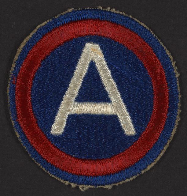 [World War II, Corporal, 3rd Army patch]