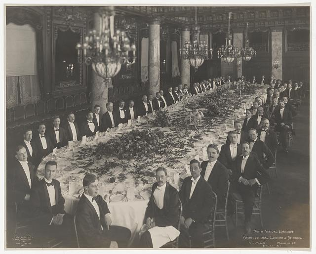 Ninth Annual Banquet, Architectural League of America, New Willard, Washington, D.C., April 24, 1907