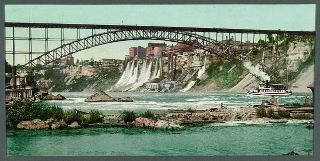 Niagara, mills and Grand Trunk [i.e. Upper Steel Arch] Bridge