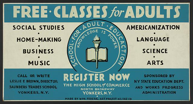 Free classes for adults - register now