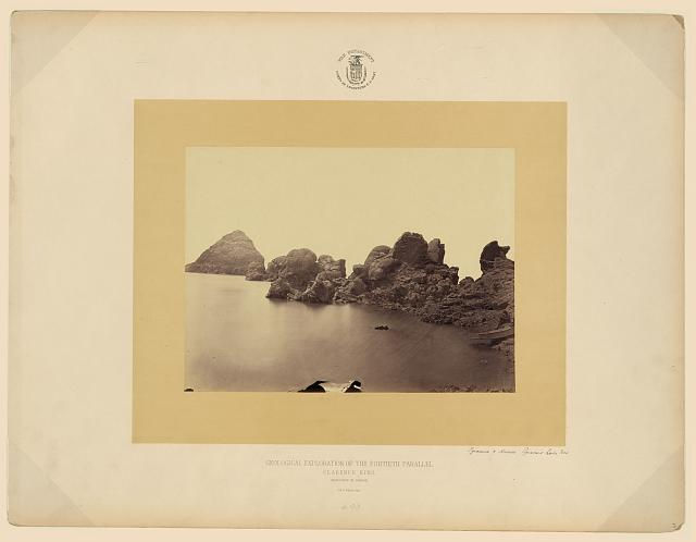 Pyramid and domes, Pyramid Lake, Nev.