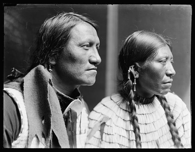 [Charging Thunder, Sioux & wife, American Indians]