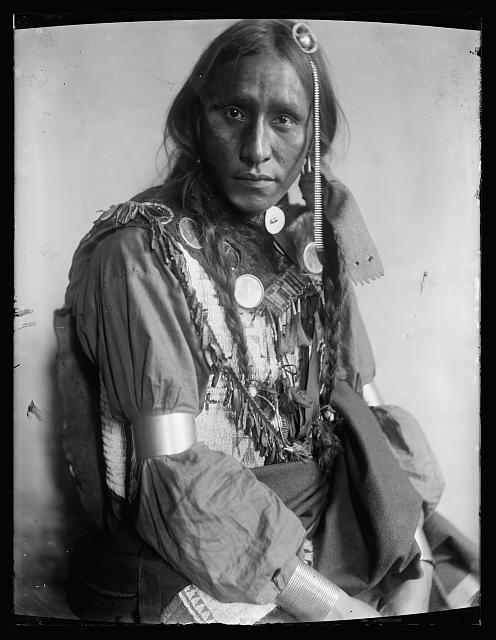 [White War Bonnet, American Indian]