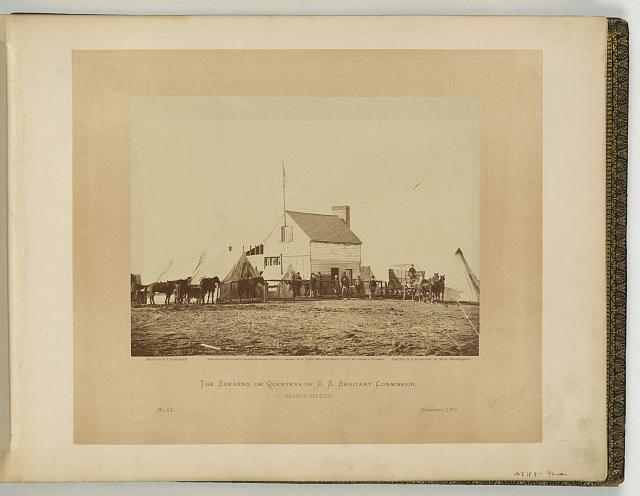 The Shebang, or quarters of the U.S. Sanitary Commission, Brandy Station