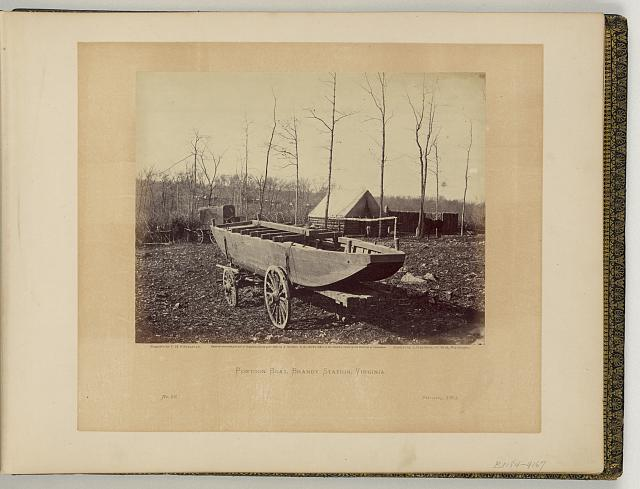 Pontoon boat, Brandy Station, Virginia
