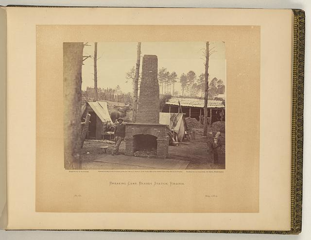 Breaking camp, Brandy Station, Virginia