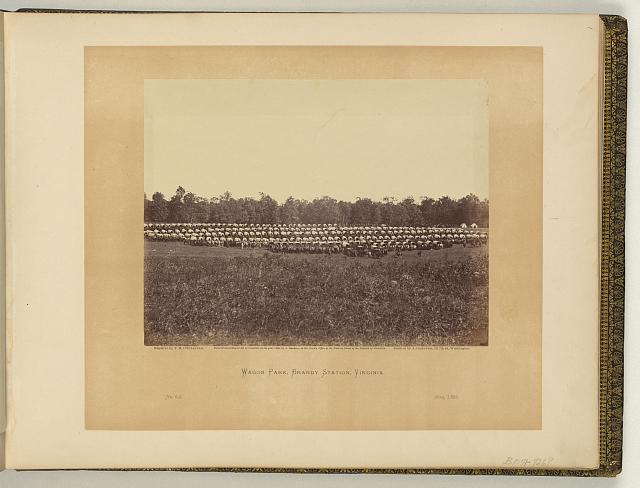 Wagon park, Brandy Station, Virginia