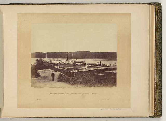 Medical supply boat, Appomattox Landing, Virginia