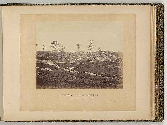 Interior view of the Confederate line, at Gracie's Salient