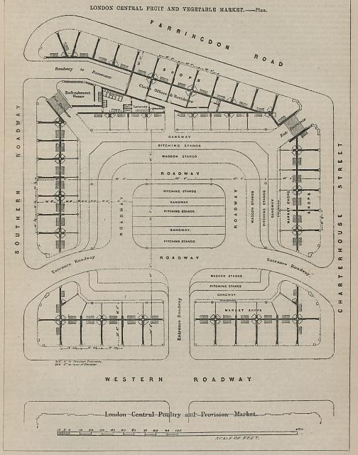 London central fruit and vegetable market - plan