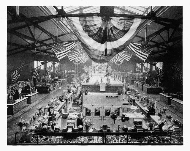 Municipal market for city of Evansville, Indiana, interior - Clifford Shopbell &amp; Company, architects