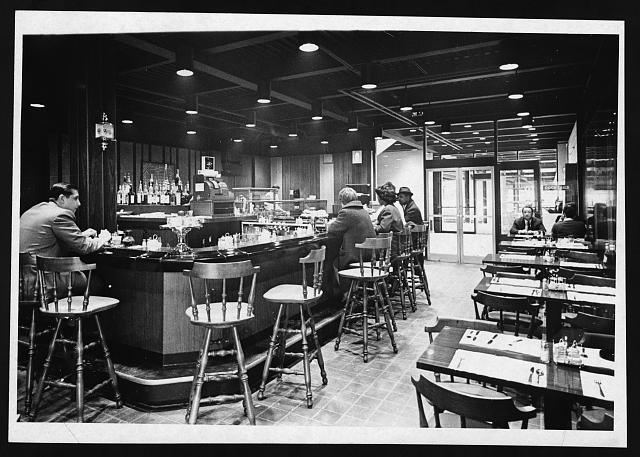 [Cocktail bar and restaurant at Hunts Point Market, the Bronx, New York City]