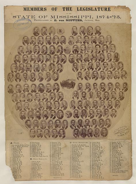 Members of the Legislature, State of Mississippi, 1874-'75