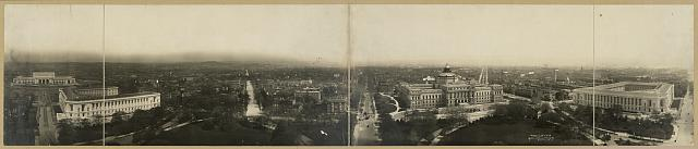 [Panorama of Capitol Hill, Washington, D.C., taken from the Capitol Building, looking east]