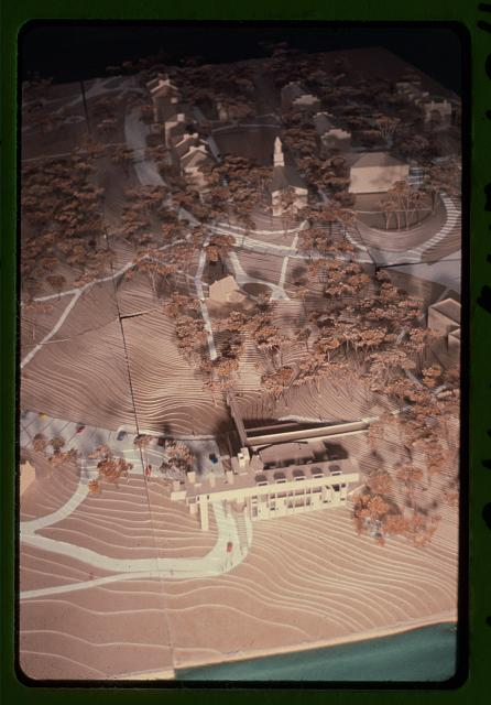 [Creative Arts Center (Dana Arts Center), Colgate University, Hamilton, New York. Model]
