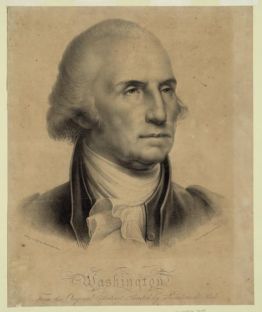 Washington. From the original portrait painted by Rembrandt Peale