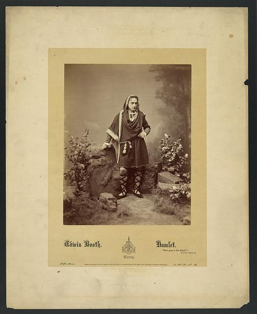 [Portrait of Edwin Booth as Hamlet]