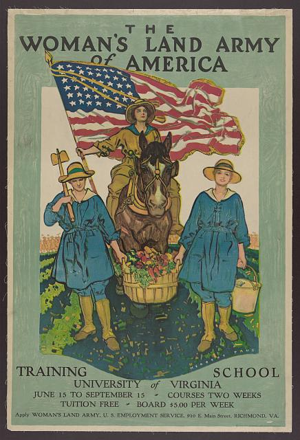 Woman's Land Army Poster