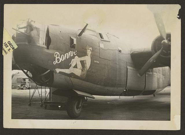 [Nose art on a B24 Liberator]