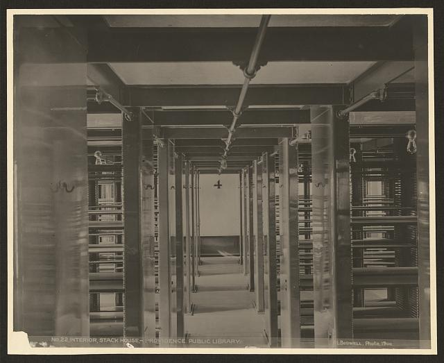 Interior, Stack House-Providence Public Library