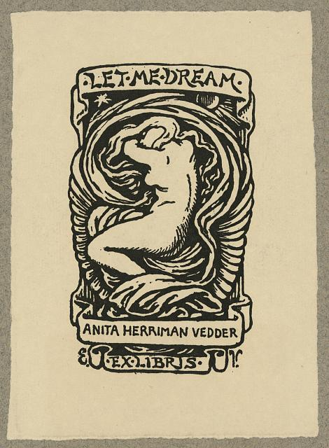 [Bookplate of Anita Herriman Vedder, Rome, Italy]