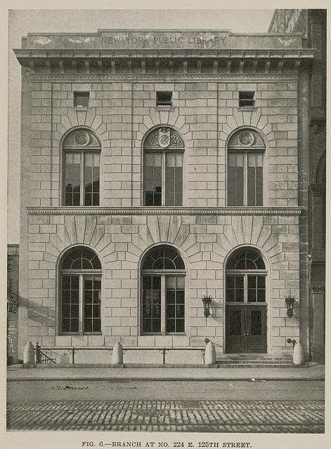 Branch at no. 224 E, 125th Street, New York Public Library. Babb, Cook & Willard, architects