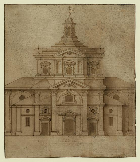 [Design for a church façade]