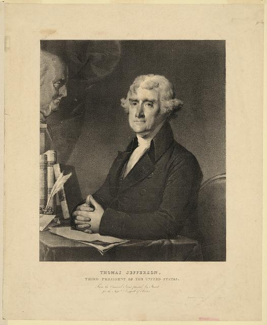 Thomas Jefferson, third president of the United States