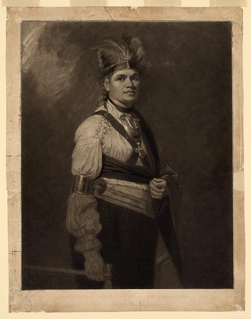 Joseph Fayadaneega, called the Brant, the Great Captain of the Six Nations