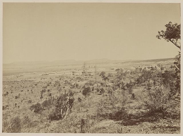Distant view of Fort Wingate, New Mexico, 1873